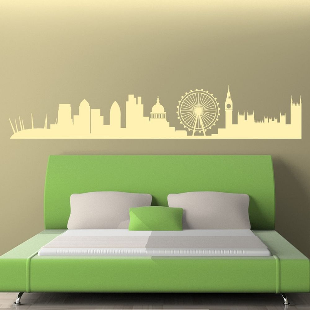 London Skyline Wall Sticker Art Decal Vinyl Transfer Stencil Decor ...