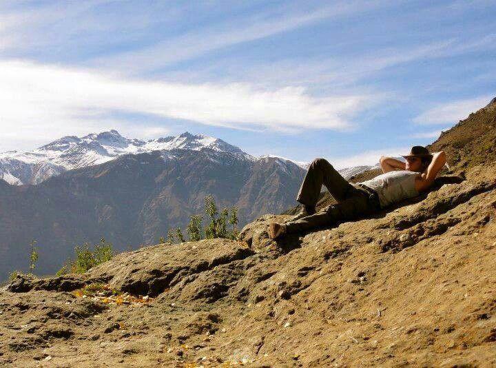 Sam Heughan - Relaxing in BC (i think) I Want A Love Like Jamie