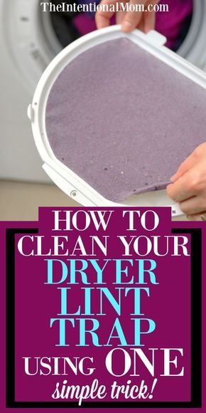 Clean Your Dryer's Lint Trap Using 1 Simple Trick!