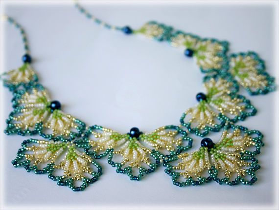 BluePetals necklace beading TUTORIAL by AsszaBeadingArts on Etsy. This listing is for the Pdf tutorial only. The finished product is not included, there are no supplies included.