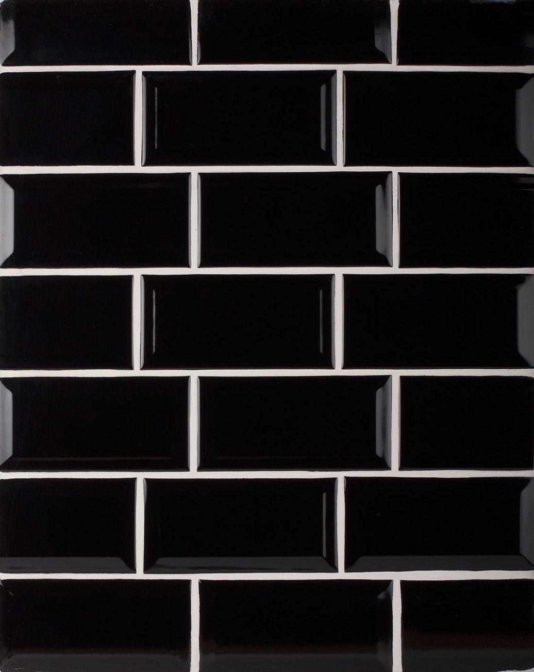 Biselado Negro Kitchen Wall Tile Creates A Great