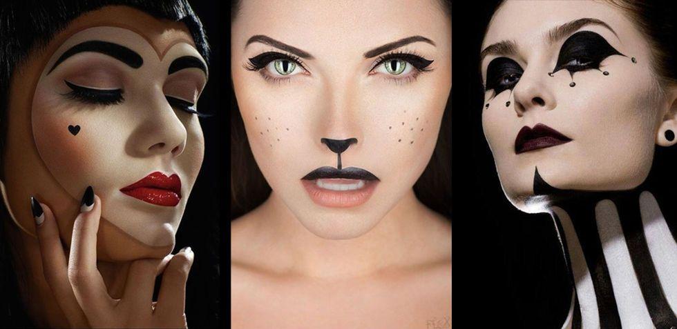 Fixa halloweenkostymen med vackra makeuper