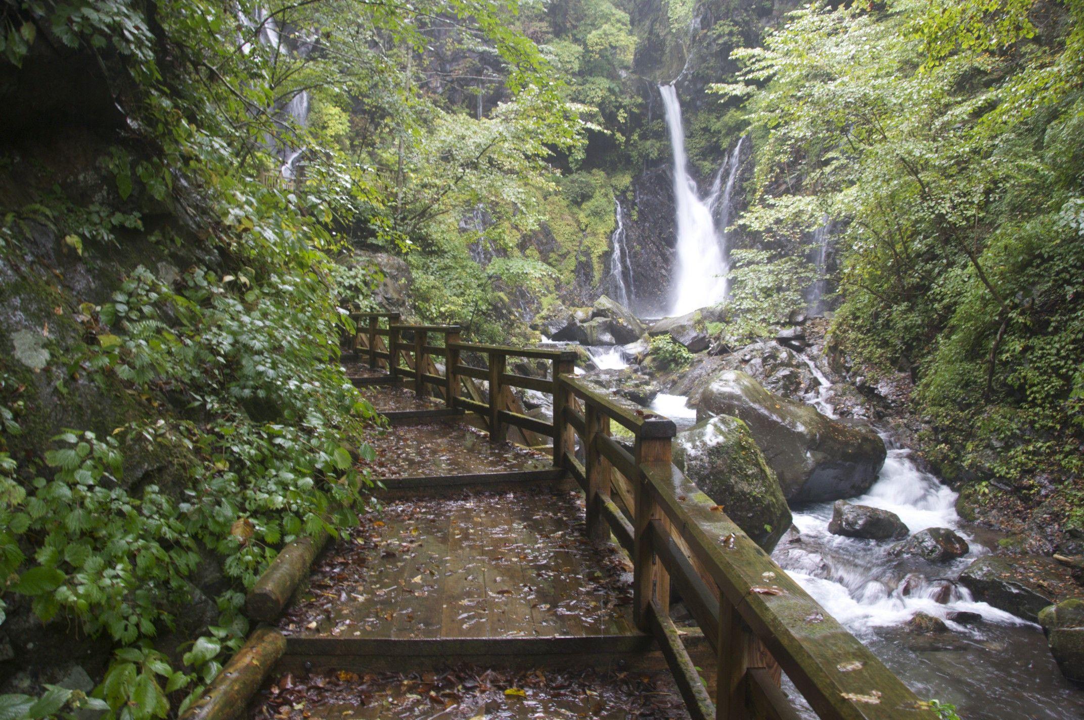 Urami Waterfall Nikko Japan