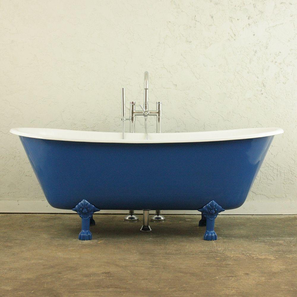 Blue vintage clawfoot tub tub clawfoot bathtub bathtub
