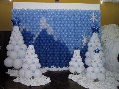Cenário montanha de balões.