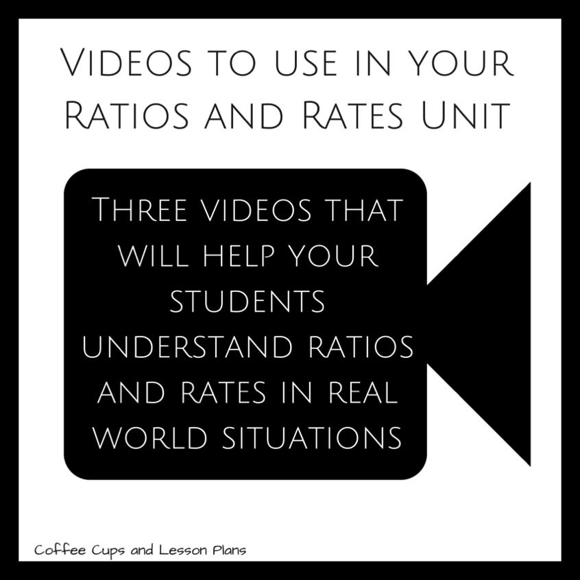 Coffee Cups and Lesson Plans: Ratios and Rates Videos {Mid-Week Math ...