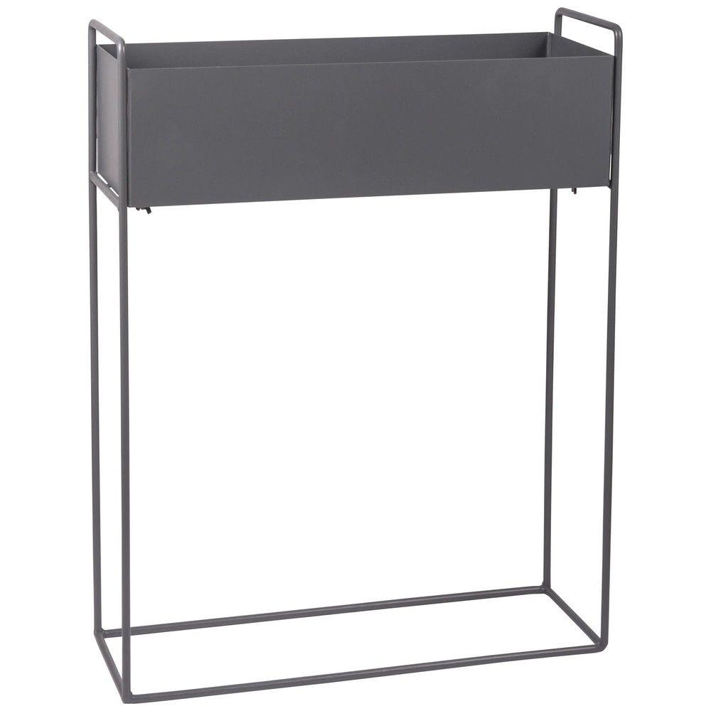 blumenkasten aus anthrazitgrauem metall 56x74 maisons du monde haus pinterest mond. Black Bedroom Furniture Sets. Home Design Ideas