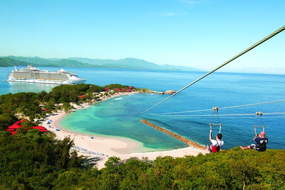 Royal Caribeaan own private island at Labadee, Haiti. The dragons breath  zipline is one of the longest … | Caribbean cruise, Royal caribbean cruise,  Cruise vacation