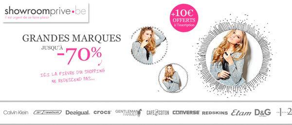 Showroomprive.be, Chaussures pour femme de grandes marques à -70% + 10 euros de réduction supplémentaires | http://www.i-reductions.be/showroomprive.be