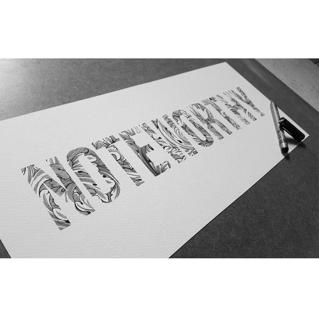 Pattern inside letters designed for Noteworthy Marriages #typography #calligraphy #illustration #art #design #LA #oneiscool #2016