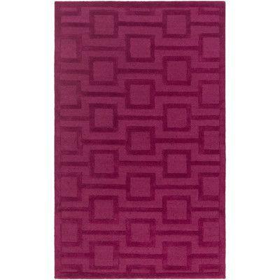 Artistic Weavers Poland Washington Hand-Tufted Rasberry Area Rug Rug Size: 9' x 13'