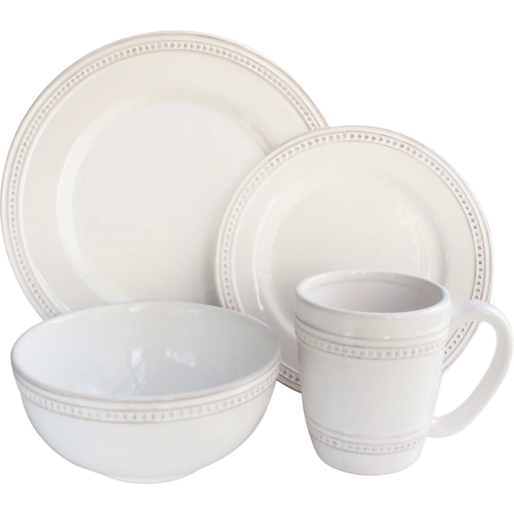 laurel foundry modern farmhouse hauser piece dinnerware set  - laurel foundry modern farmhouse hauser piece dinnerware set