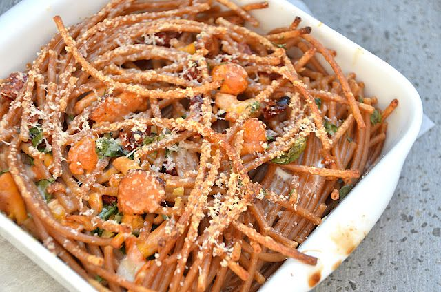 Baked Pasta with Chanterelles by Twin Food Scrumptious Delights