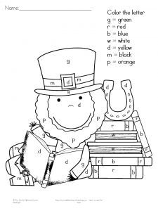 2 free st patricks day worksheets for kindergarten - St Patricks Day Pictures To Color 2