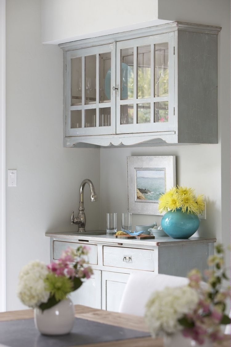 14.JPG (With images) | Grey kitchen cabinets, Glass front ...
