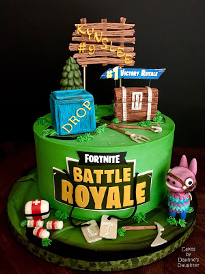 The Bake More Fortnite Battle Royale Cake With Gum Paste Loot Llama Drop Box Loot Chest And We In 2020 Boy Birthday Cake Themed Birthday Cakes Cake Designs For Boy