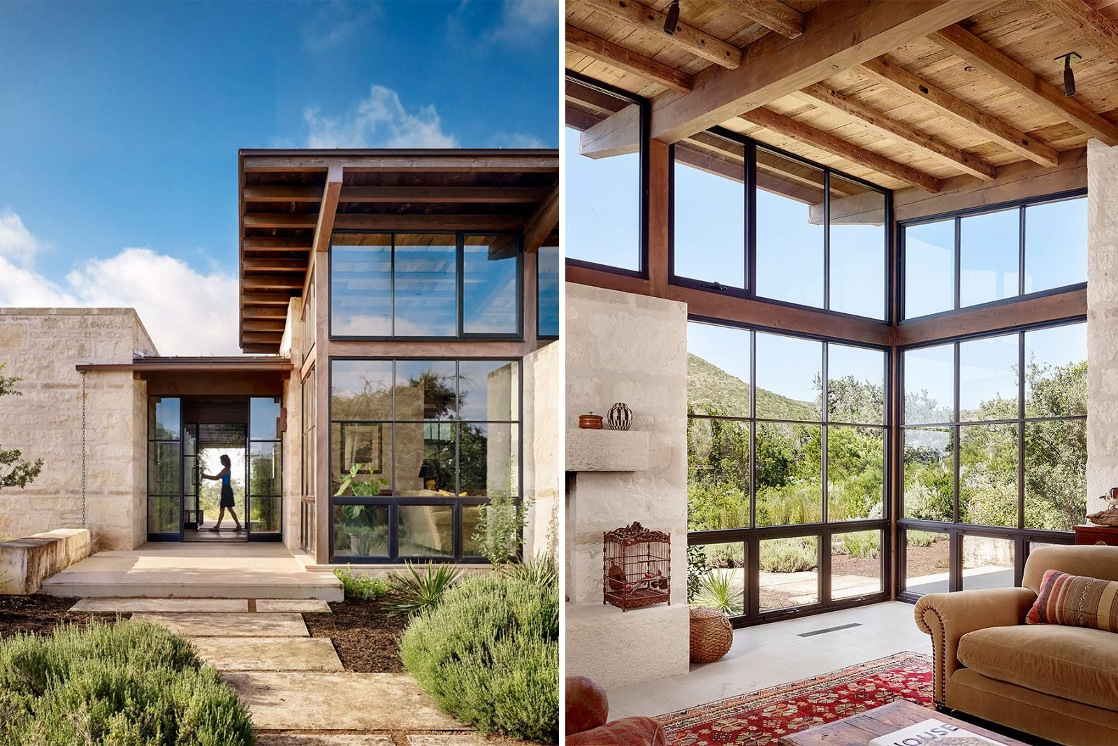 Seated on a heavily-wooded bluff, Goat Mountain Ranch tempers views ...