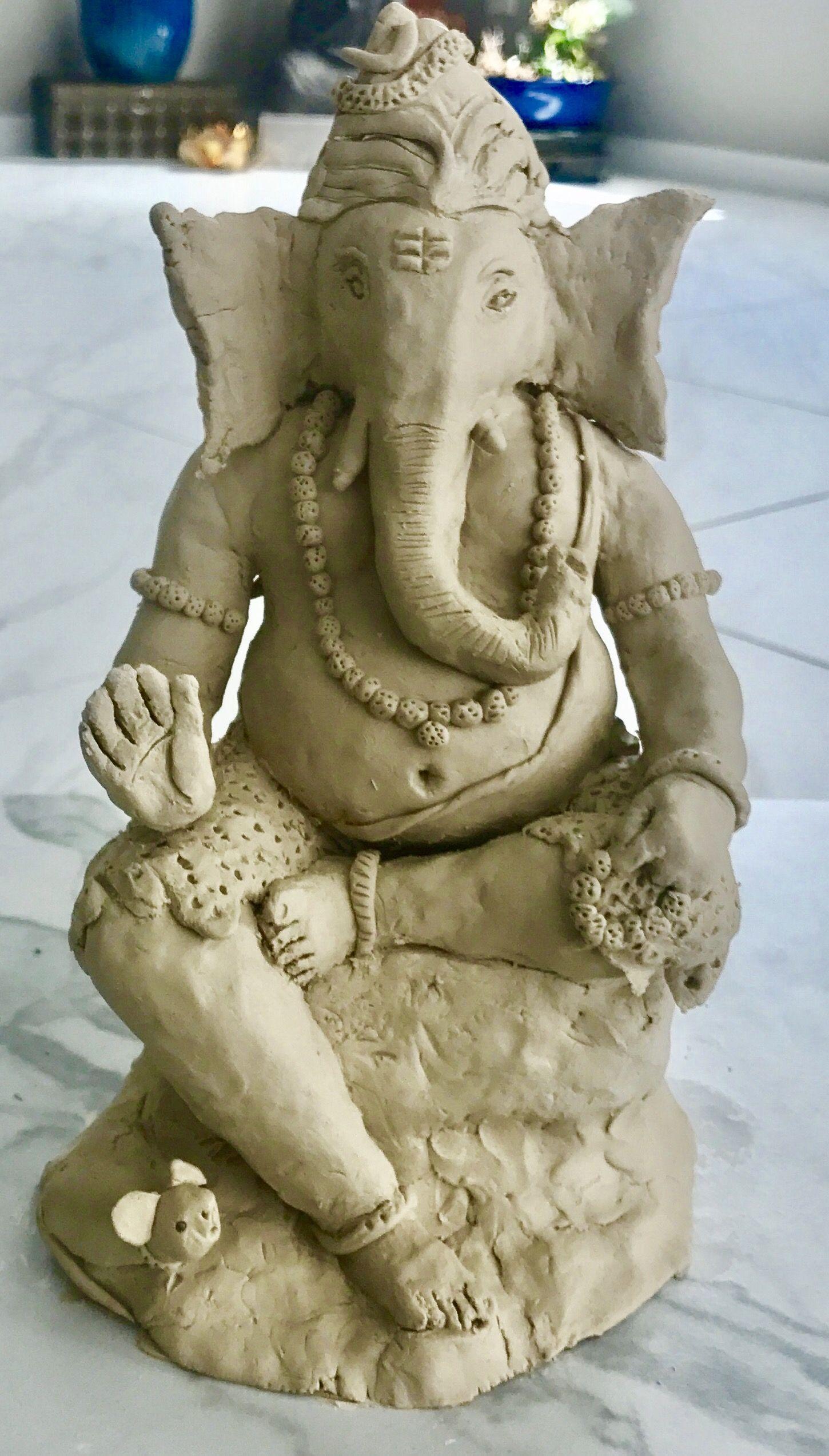 eco friendly clay ganesha #ganapathi #clay ganesh #diy