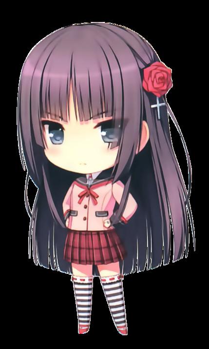 Chibi fille en uniforme scolaire chibis pinterest - Fille manga chat ...