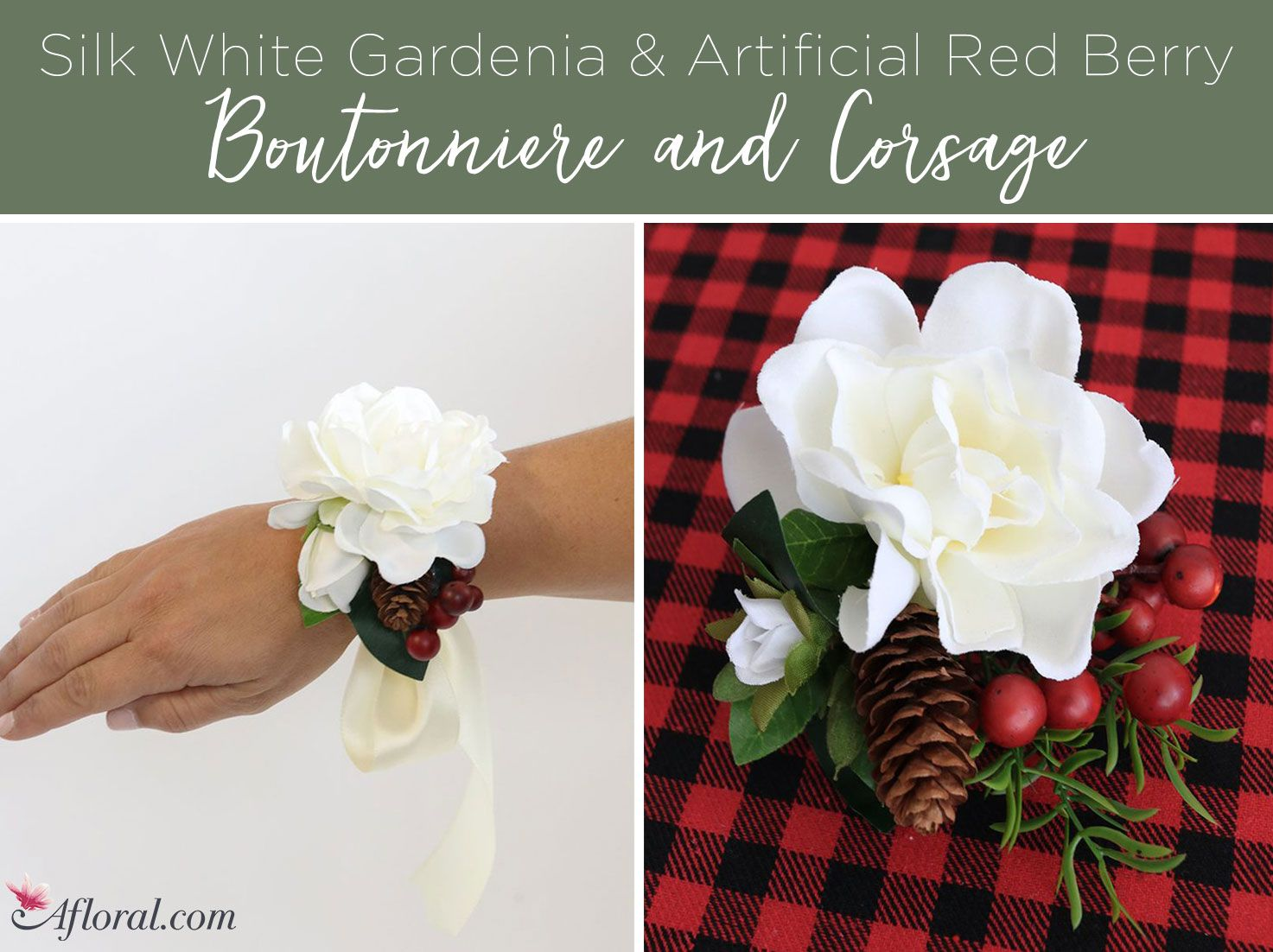 Get This Gorgeous Silk White Gardenia Flower Accented With