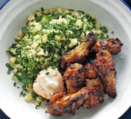 Moroccan wings with herb couscous recipe recipes bbc good food moroccan wings with herb couscous recipe recipes bbc good food forumfinder