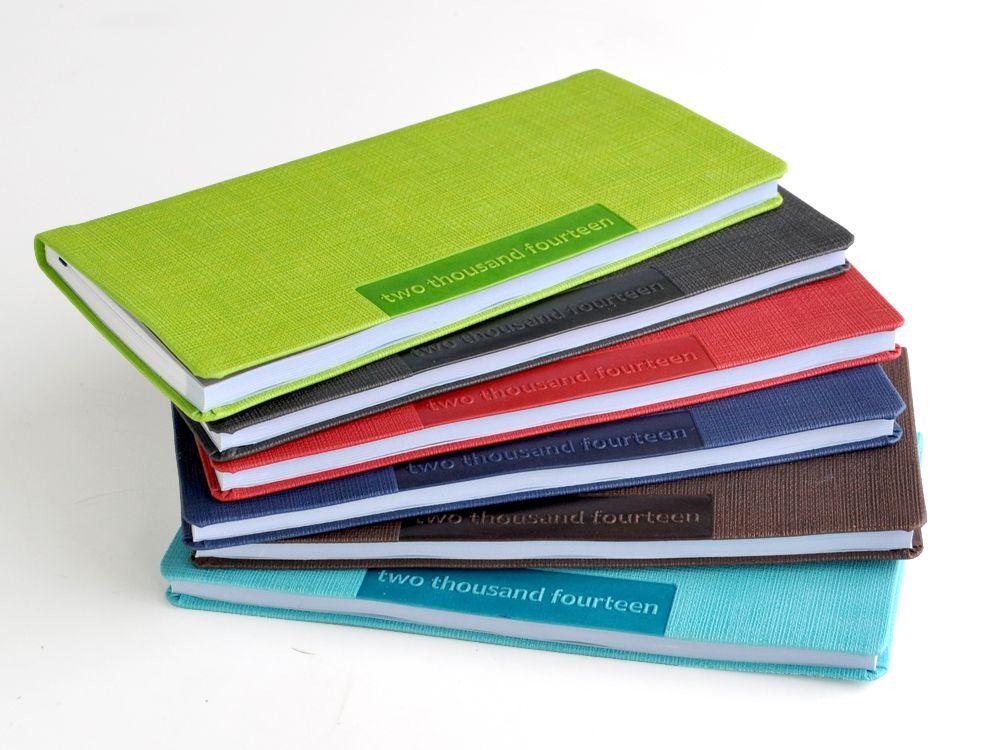 Faux Leather Slim Wallet 2014 Planner - Aqua