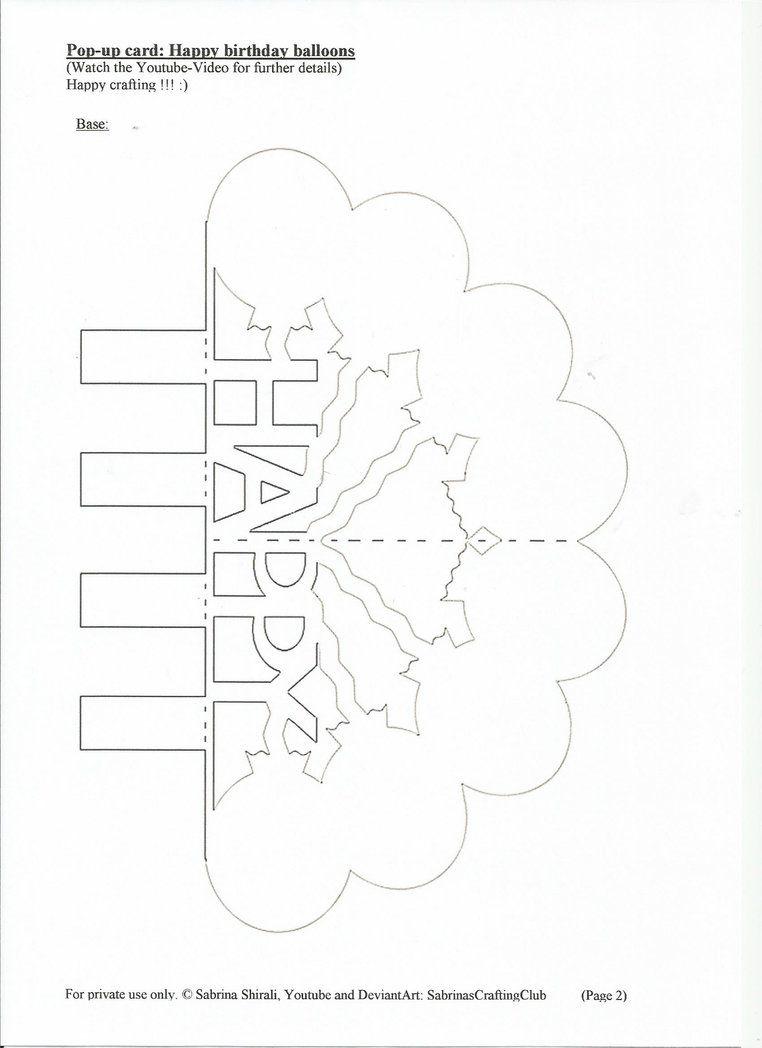 Pop up card happy birthday page by sabrinascraftingclub on