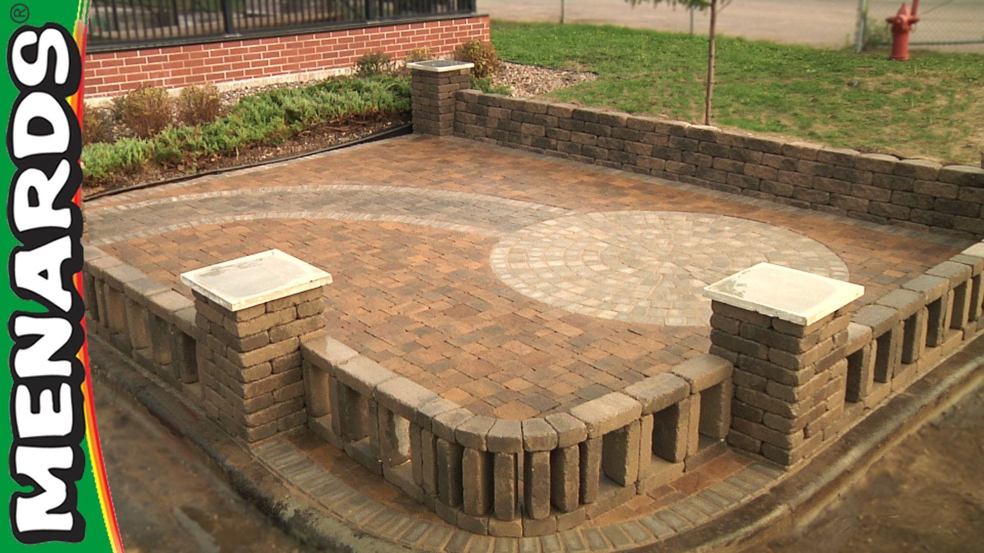 building a patio with blocks menards patio block designs