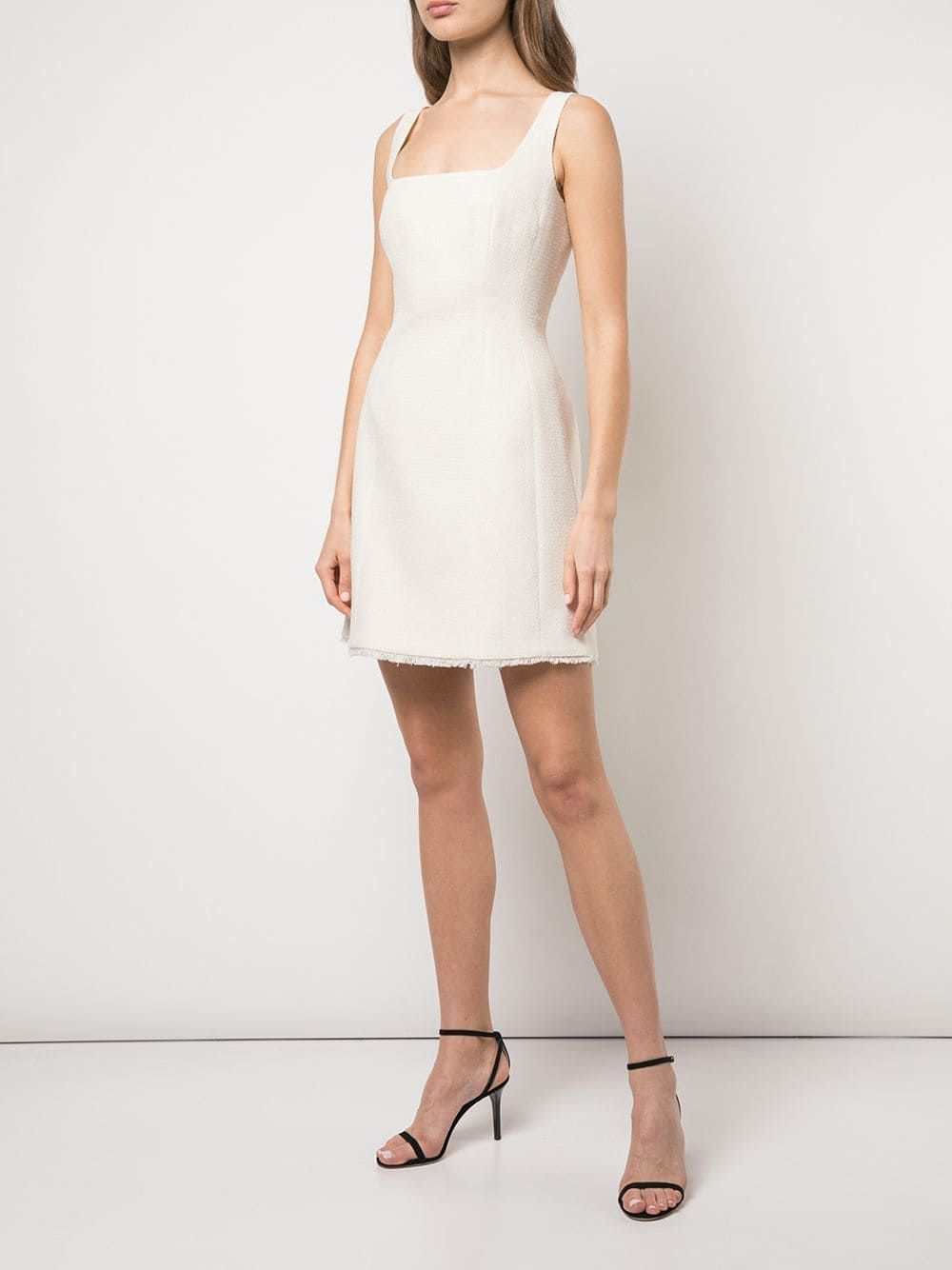 Alexa Chung Square Neck Short Dress Farfetch Dresses Short Dresses Square Neck Dress