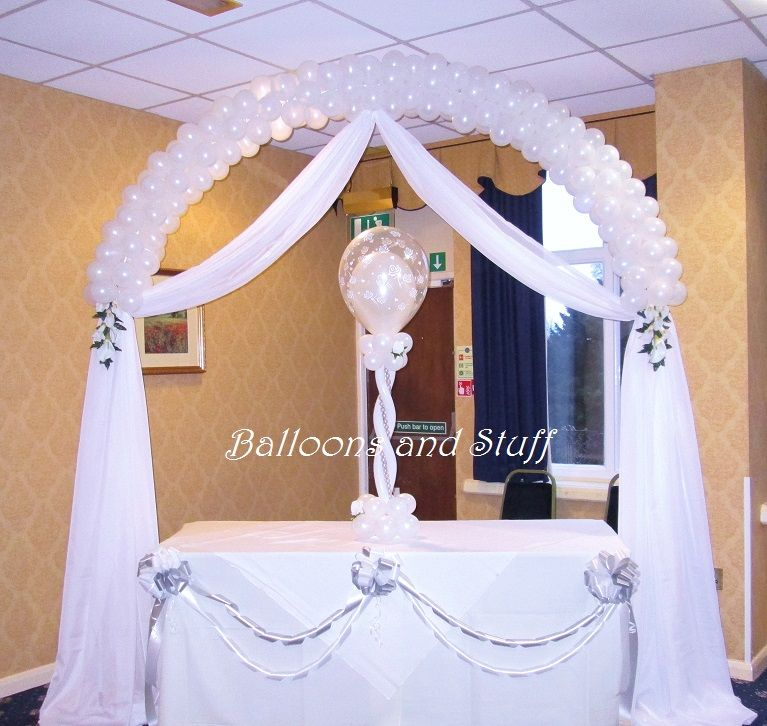 Balloon wedding arch decoraci n matrimonios y quincea eras for Decoracion 40 aniversario de bodas