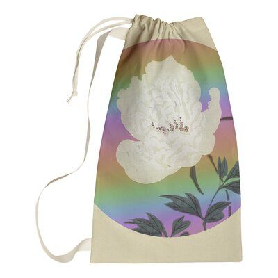 Winston Porter Steadman Vintage Japanese Flower Painting Laundry Bag | Wayfair.ca