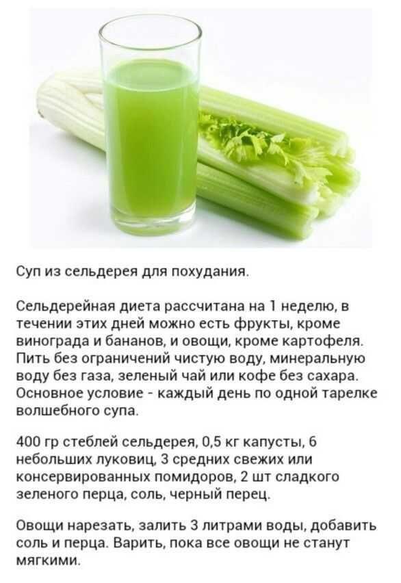 Сельдерей суп для похудения рецепт
