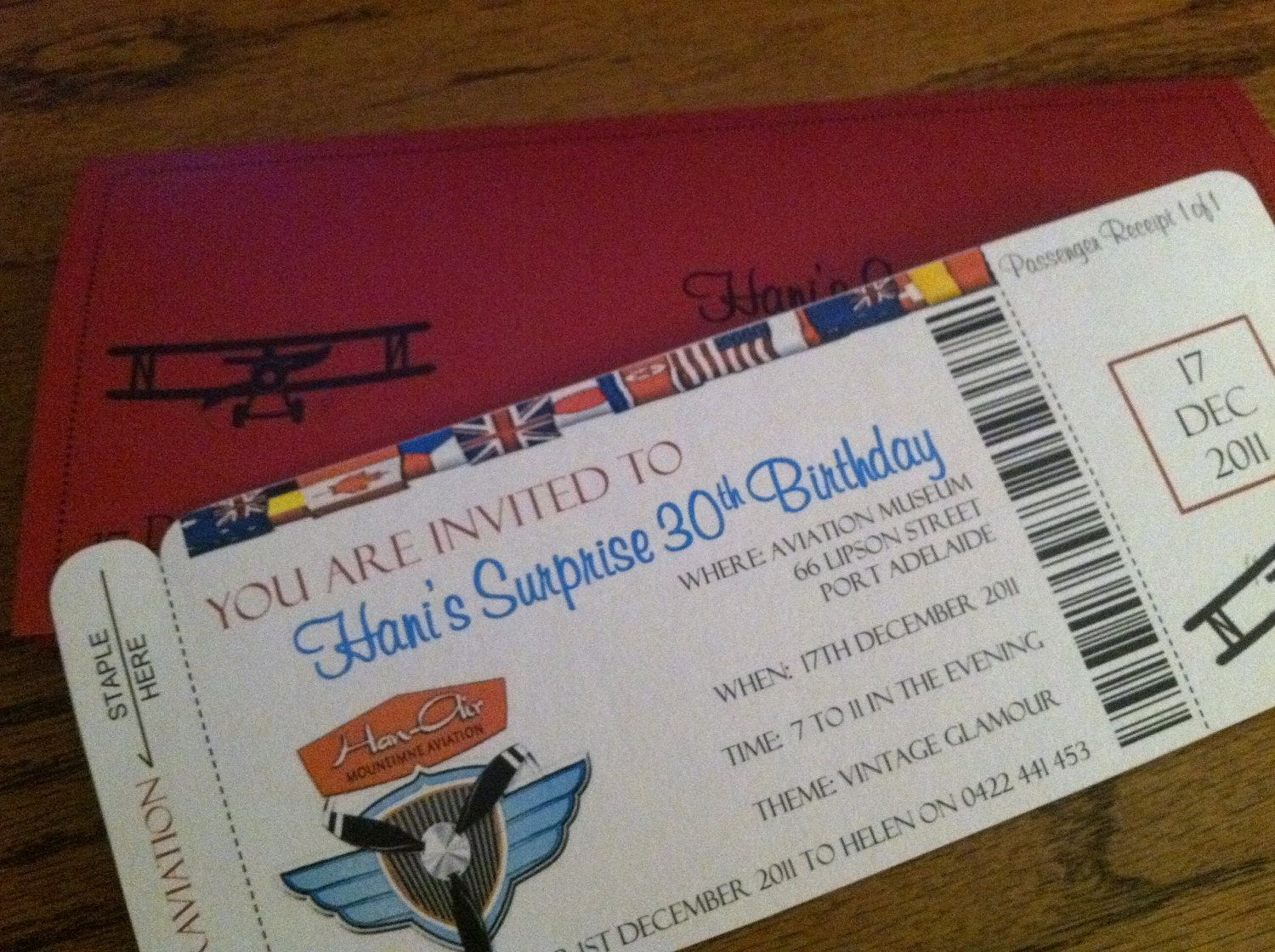 Airplane Themed Boarding Pass Invites   Retirement party   Pinterest ...