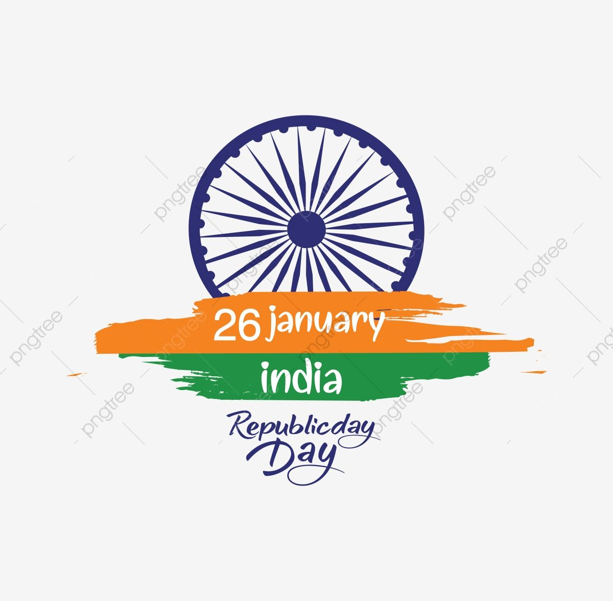 Indian Republic Day Concept With Text 26 January Vector Text Icons Day Icons Concept Icons Png And Vector With Transparent Background For Free Download Indian Republic Day India Republic Day Images