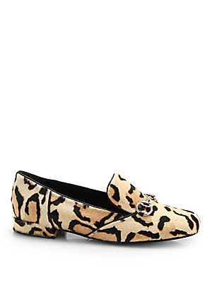 c4c187311 Gucci Lillian Leopard-Print Calf Hair Loafers | Luxury | Gucci shoes ...