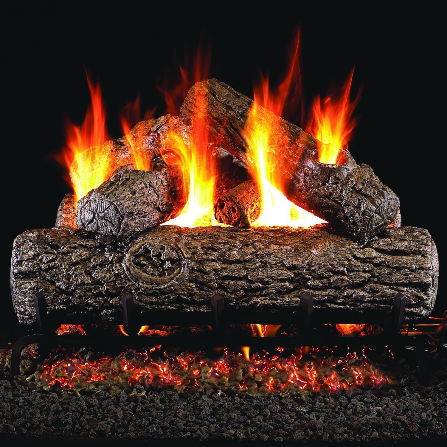 Peterson Real Fyre 24Inch Golden Oak Gas Log Set With