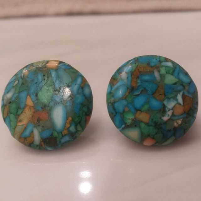 Turquoise Post Earrings by IslaRise on Etsy, $12.00