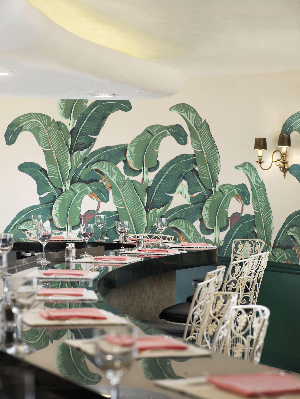 Banana Leaf Print Tropical Wallpaper Etsy in 2020
