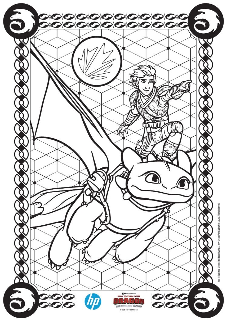 How To Train Your Dragon The Hidden World Prints From Hp Dragon Coloring Page How Train Your Dragon Coloring Books