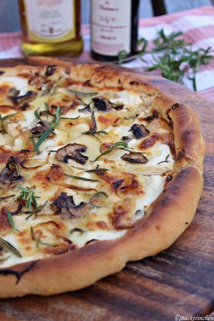 Mushroom Pizza Bianco With Porcino Oil |