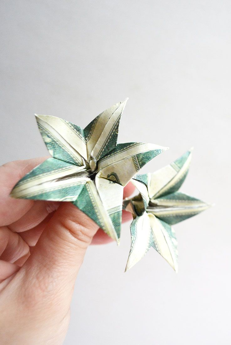 Cool Money Flower Origami Dollar Tutorial Diy Folded No Glue Its A