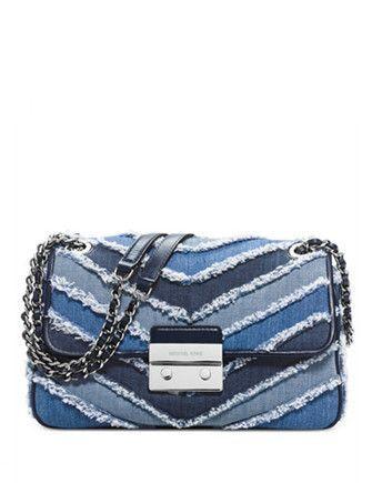 82c2130da94b4f Michael Michael Kors Sloan Large Chain Shoulder Bag | Bolsos | Denim ...