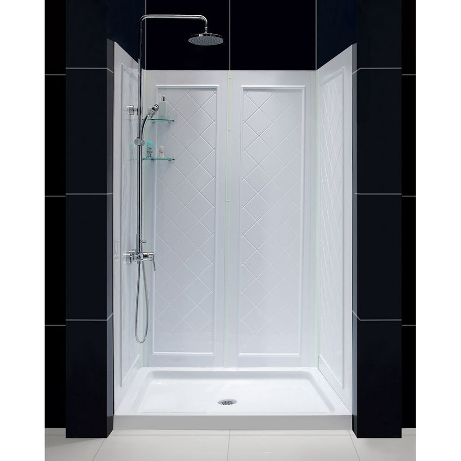 Dreamline Shower Base And Back Walls White Acrylic Wall And Floor