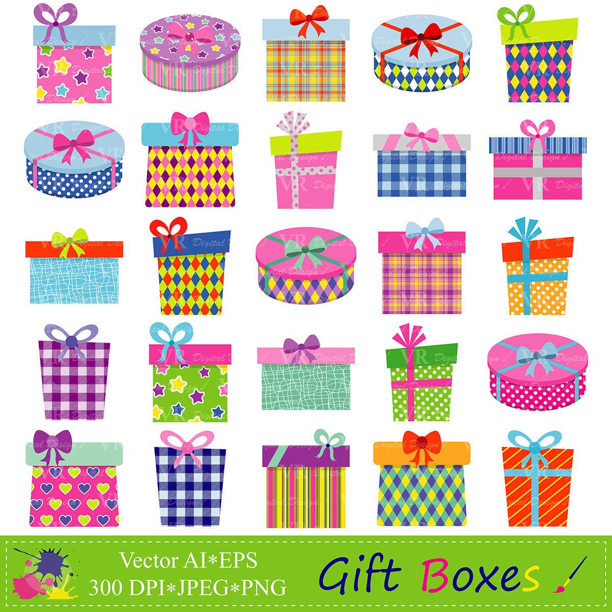 Gift Boxes Clipart Gifts Presents Clip Art Birthday Party
