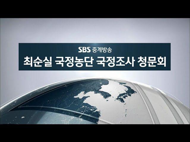 '박근혜 정부-최순실 게이트' 청문회 생중계