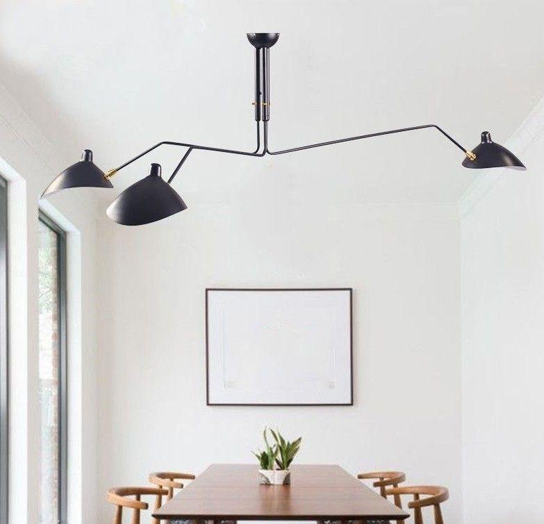 hanglamp Contemporary 3-arm zwart