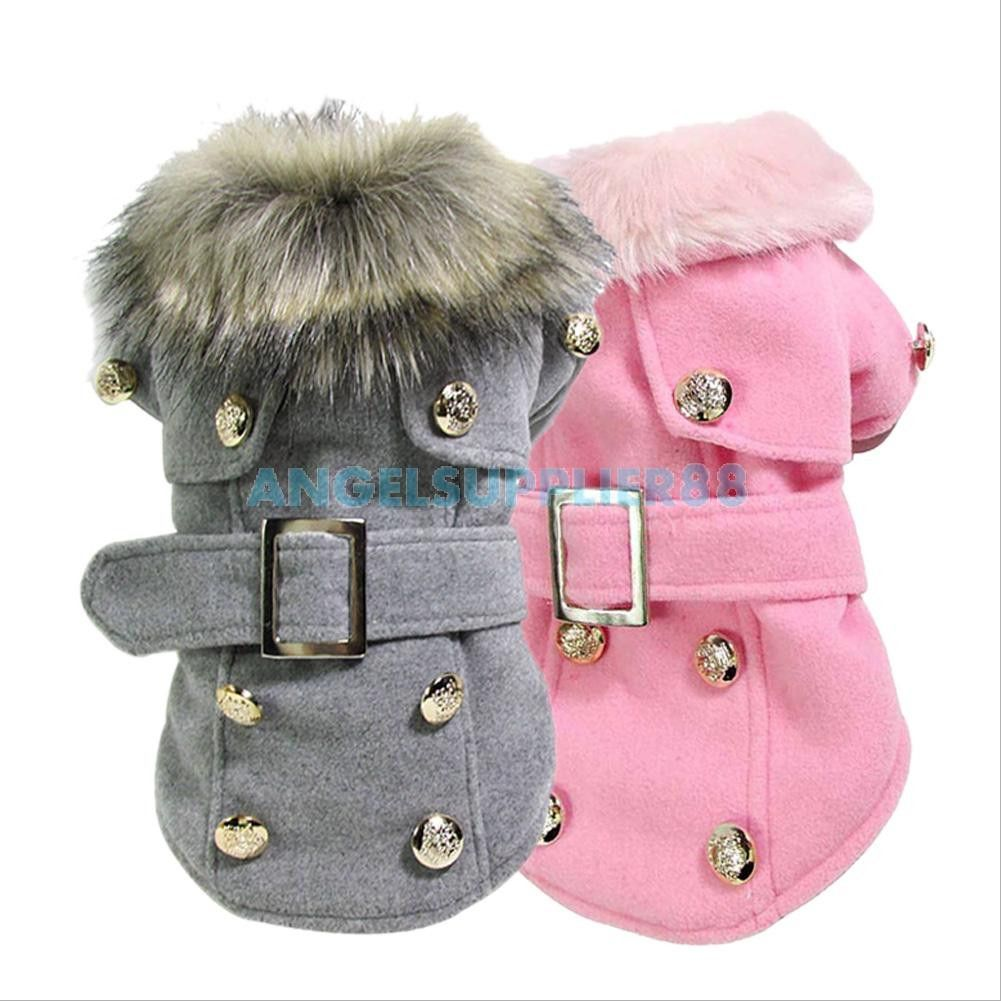 Fur trimmed hooded dog coat \'Queen\' silver-pink | Tu2 | Pinterest ...