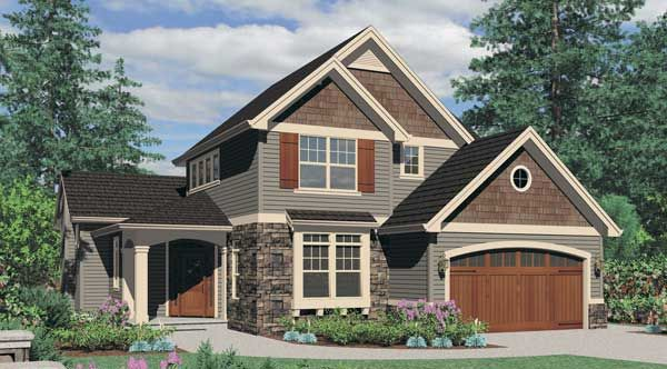 color combinations for house with cedar shake accents | craftsman+house+with+cedar+shakes+and+stone+columns.jpg
