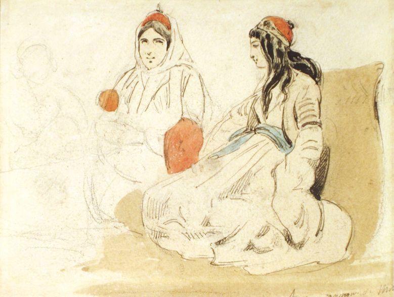 Capitaine Théodore Leblanc  Etude de femmes grecques, vers 1828