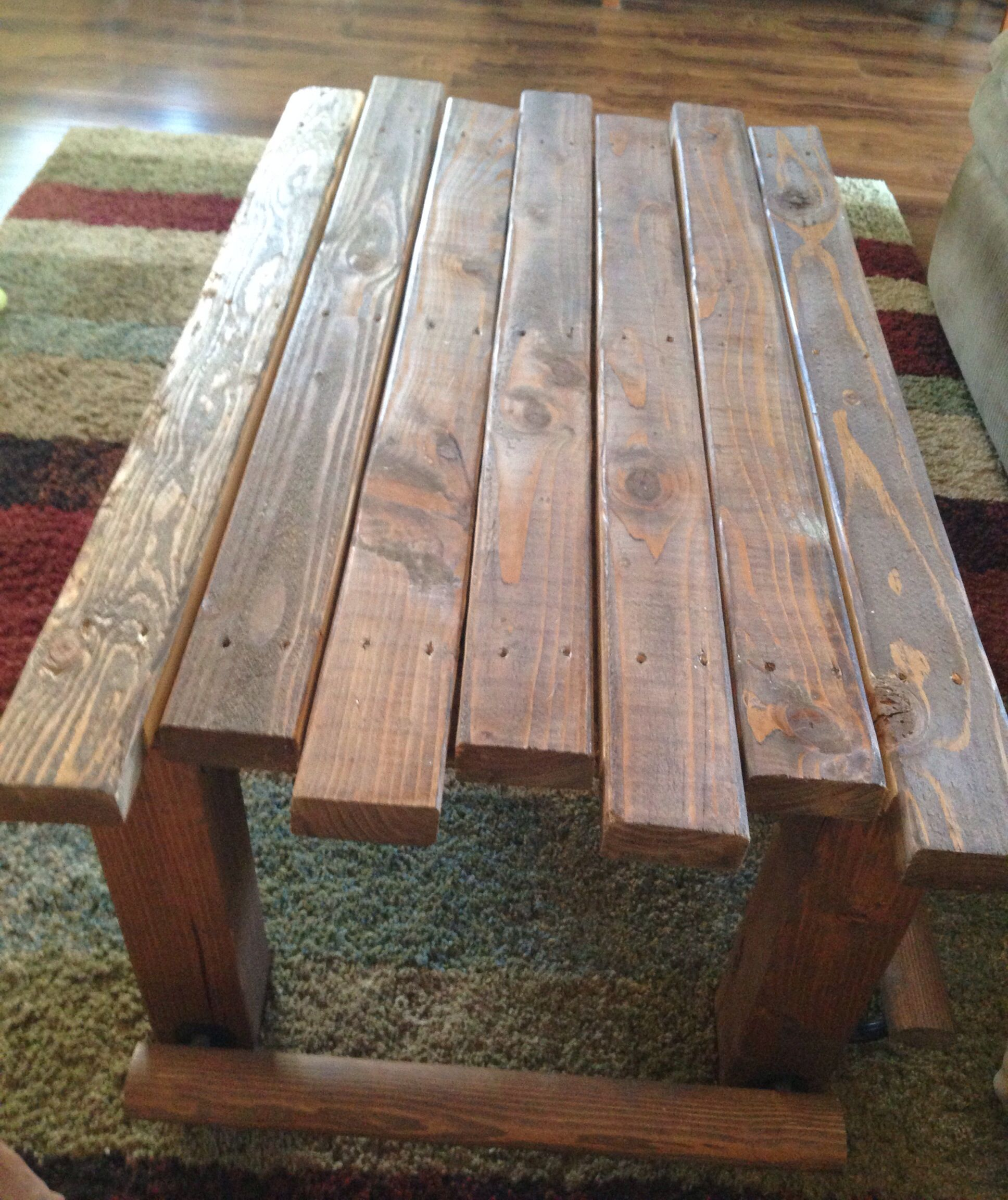 Rustic coffee table Easy to make 4x4 s 2x4 s screws and a